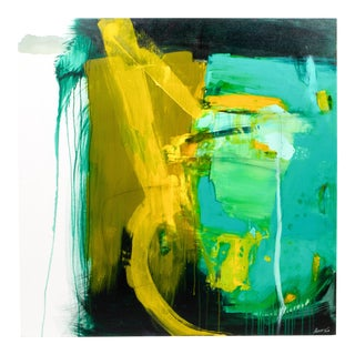"Robin Crutcher Original ""Cradle Me Yellow"" Painting For Sale"
