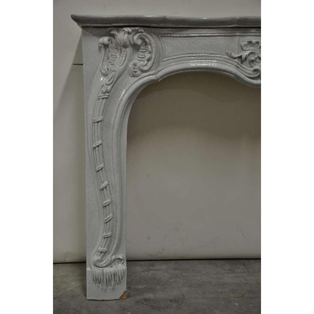 -Unique - 19th c. Porcelain French Rococo Fireplace For Sale - Image 4 of 11