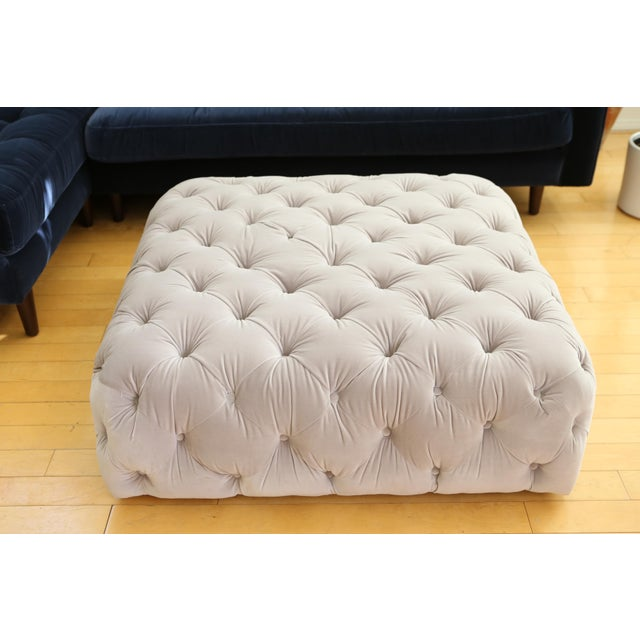 New condition Velvet tufted ottoman coffee table Equal parts luxurious coffee table and sumptuous ottoman. This ottoman...