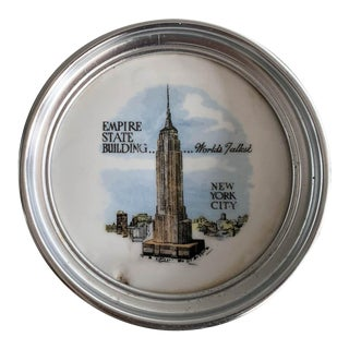 Vintage New York City Coaster - Empire State Building For Sale
