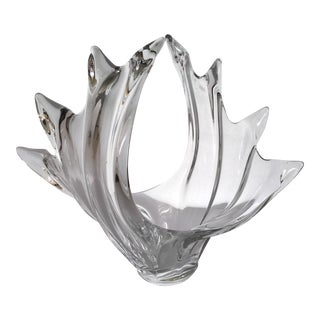 Vannes Le Chatel Large Crystal Bowl -Vase - Sculpture