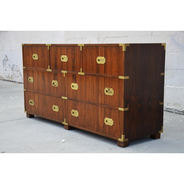 1960s Pair of Walnut Baker Chests of Drawers For Sale - Image 5 of 13