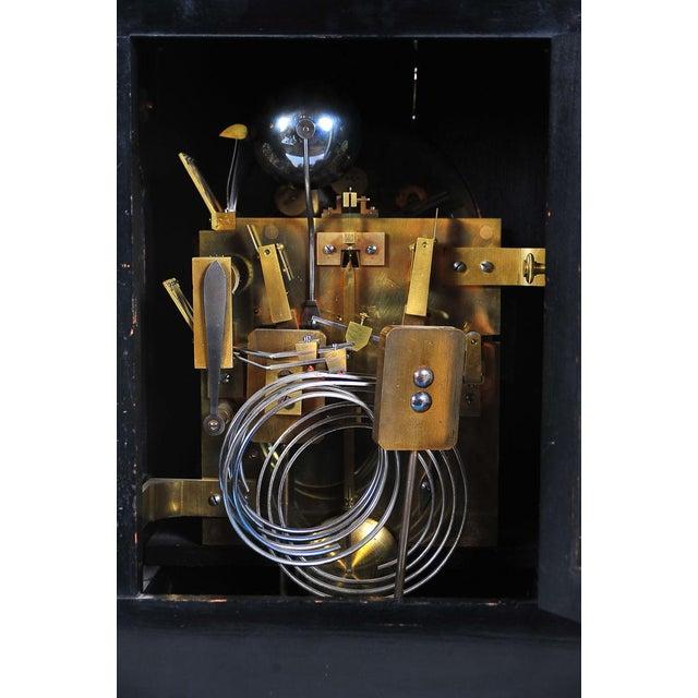 19th C. Reid & Sons Triple Fusee Ebony & Gilt Mantel Clock For Sale In Los Angeles - Image 6 of 8