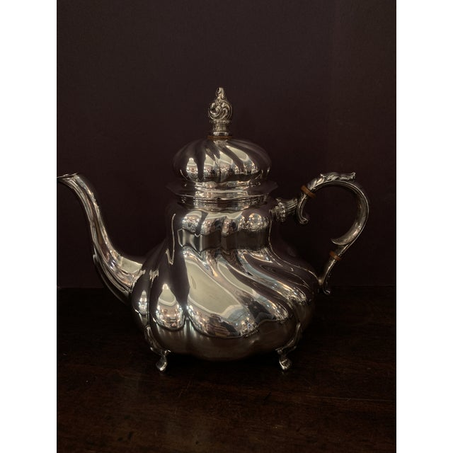 Victorian Handarbeit Sterling Silver Tea & Coffee Set - 4 Pc. Set For Sale - Image 3 of 13