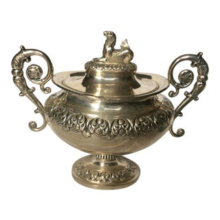 Sterling Silver Neoclassical Style Container For Sale