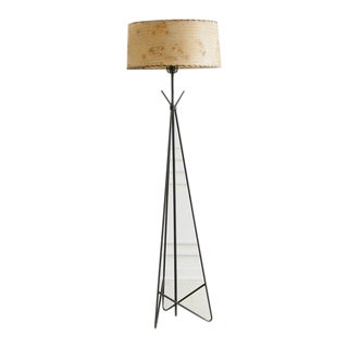 Tripod Iron Floor Lamp, 1960's For Sale