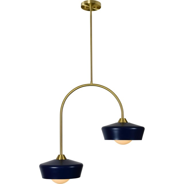 2020s Nevada Navy Blue Ceiling Fixture For Sale - Image 5 of 5
