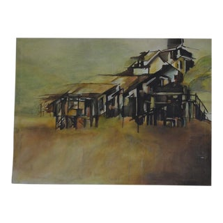 Architectural Beach House Painting