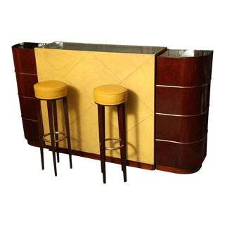 Exceptional French Art Deco Bar by Andre Arbus For Sale