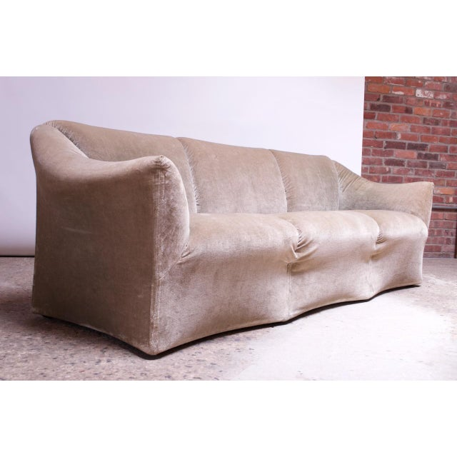 1970s Tentazione Sofa by Mario Bellini for Cassina in Original Sage Velvet For Sale - Image 13 of 13