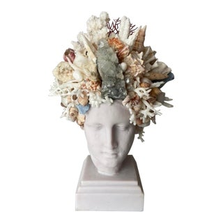 Contemporary Medium Shell Encrusted Hygiea Head For Sale