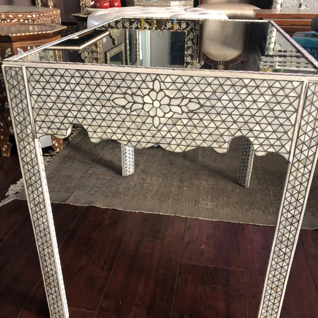 1990s Moorish Mother of Pearl Inlay Side Table For Sale - Image 10 of 11