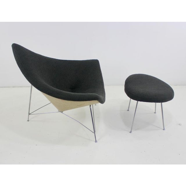 Mid-Century Modern Early Edition Coconut Chair & Ottoman by George Nelson for Herman Miller For Sale - Image 3 of 6