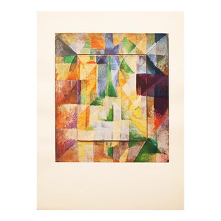"""1947 """"The Windows"""" by Robert Delaunay, Parisian Vintage Lithograph For Sale"""