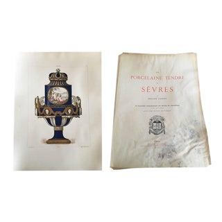 1891 Porcelaine Tendre De Sevres Plate Folio Prints - Set of 36 For Sale