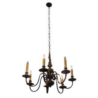 Colonial Williamsburg Style Bronze Chandelier For Sale