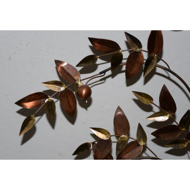 1970s Curtis Jere Copper Toned Metal Tree Sculpture C.1970s For Sale - Image 5 of 7