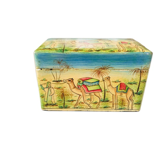 India Painted Wood Box For Sale - Image 5 of 5
