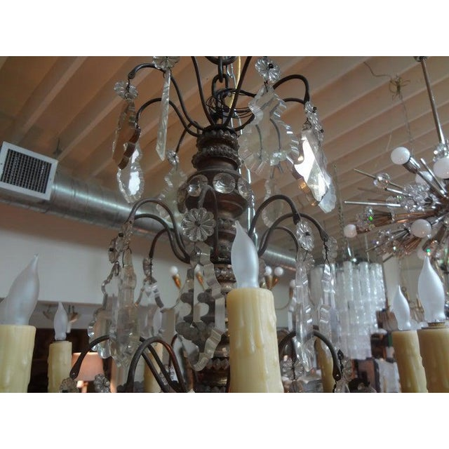 Antique French Maison Baguès Attributed Beaded and Crystal Chandelier For Sale - Image 10 of 13
