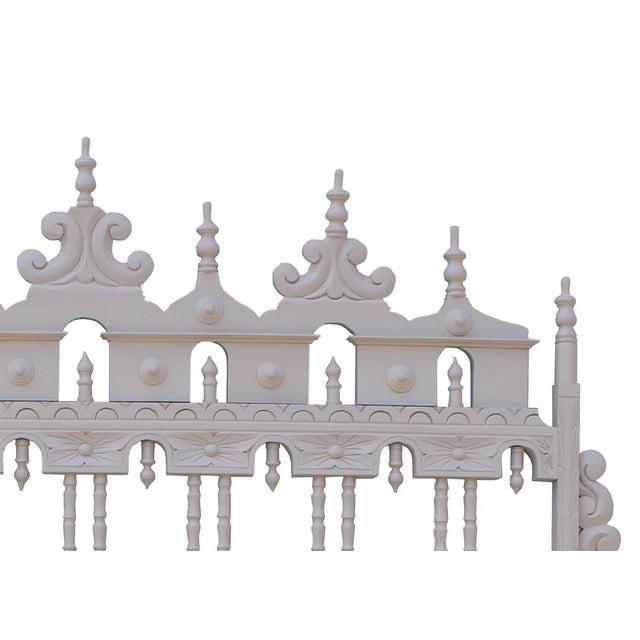 Vintage Carved Ornate Spindle King Size Headboard - Image 3 of 4