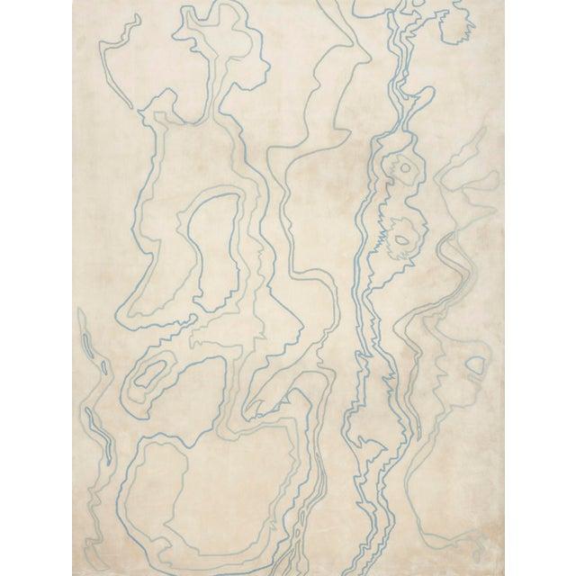 Contemporary Schumacher Patterson Flynn Martin St. Barthelemy Hand-Tufted Wool Silk Modern Rug - 9' X 12' For Sale