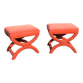 Pair Modern Decorator Stools For Sale