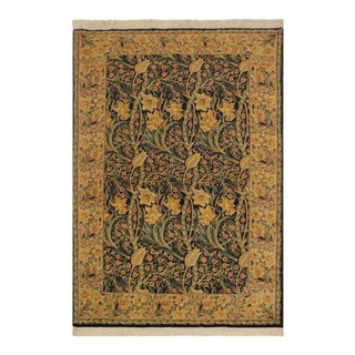 Dafodils Pak-Persian Dovie Blue/Lt. Tan Wool Rug - 4'1 X 6'3