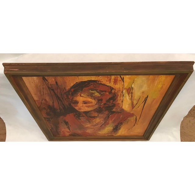 Mid-Century Original Portrait of a Woman Painting For Sale - Image 9 of 13