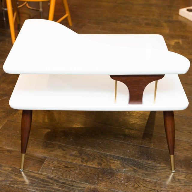 Vintage Lacquered Two-Tiered Corner Table - Image 8 of 8