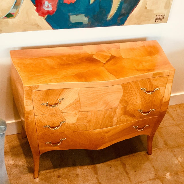 This chest is the bomb-ay! This vintage burlwood bombay chest is full of charm! This beautifully refinished piece features...