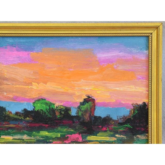 Juan Pepe Guzman Ojai California Sunset & Landscape Painting For Sale - Image 4 of 9