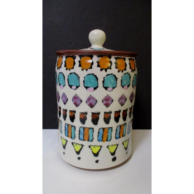Hand Painted Italian Ceramic Canisters - Set of 4 For Sale In Phoenix - Image 6 of 11