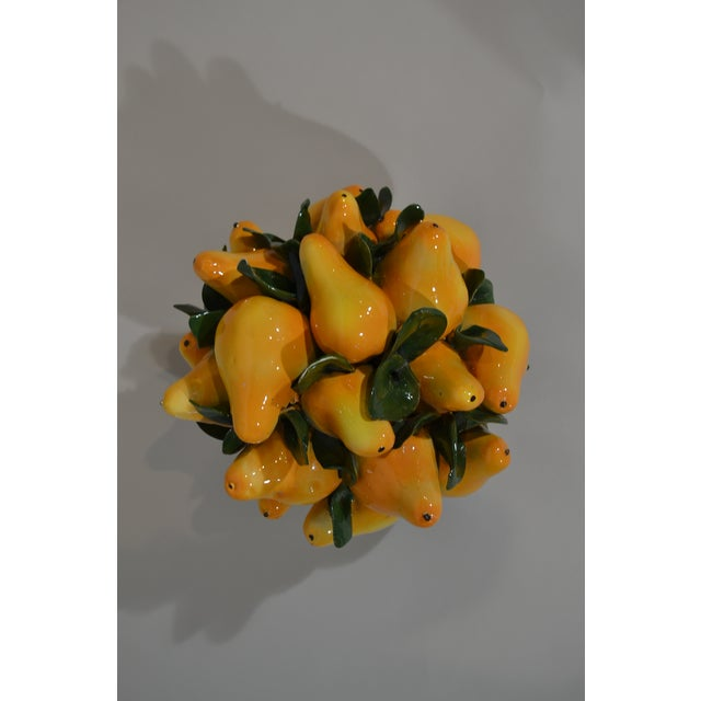 Mid 20th Century Italian Majolica Pears Centerpiece For Sale - Image 5 of 6
