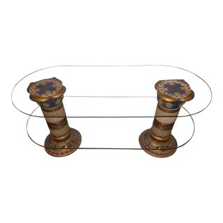 Egyptian Two Tier Glass Coffee Table