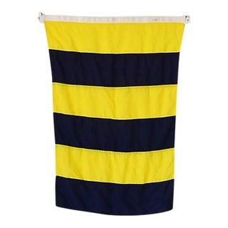 "Vintage Maritime Nautical Naval Signal ""G"" Flag"