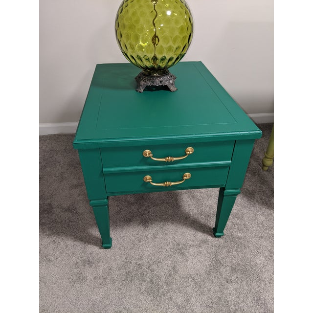Green Mid Century Lane Coffee Table/Night Stand For Sale - Image 8 of 11