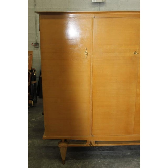 French Art Deco Sycamore Armoire - Image 4 of 7