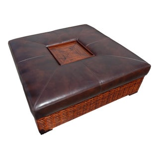 Lexington Home Brands Leather Master Ottoman