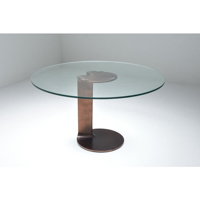 Bronze patinated table TL 59 by Afra &Tobia Scarpa for Poggi 1975. A very rare piece by one of the most famous designers...