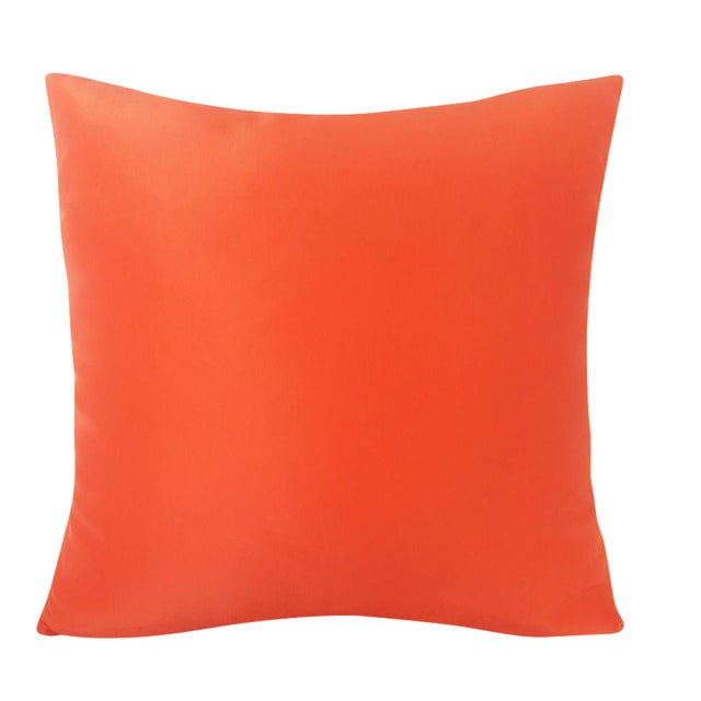 Contemporary Solid Orange Pillow For Sale
