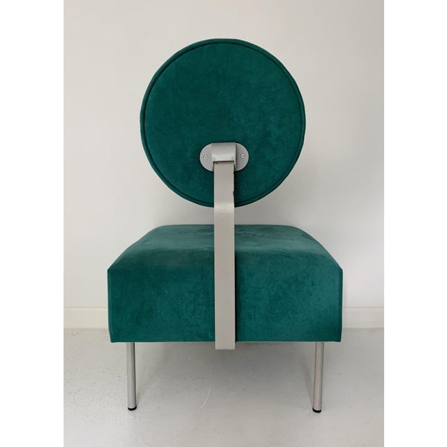 1980's Vintage Andreu World Contemporary Green Square Lounge Chair For Sale - Image 4 of 7
