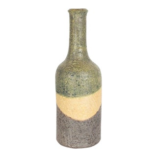Attractive Bottle Vase in Organic Tones by Marcello Fantoni for Raymor For Sale