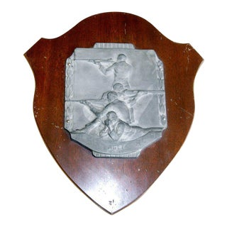 English Athletic Commemorative Wall Plaque For Sale