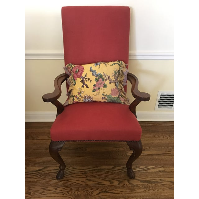 Ralph Lauren Red Fabric Dining Chairs - Set of 8 - Image 6 of 6