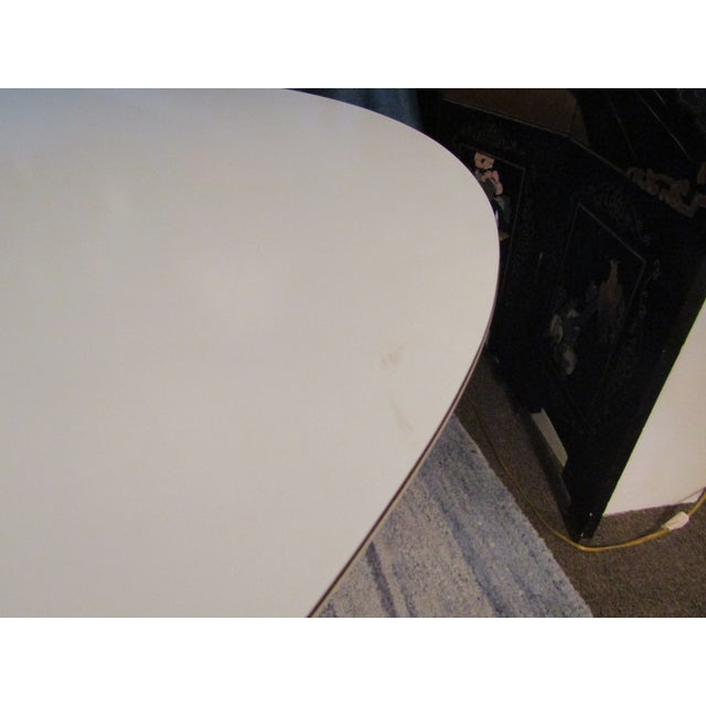 Authentic VIntage Knoll Saarinen Oval Tulip Base Dining Table - Image 5 of 7