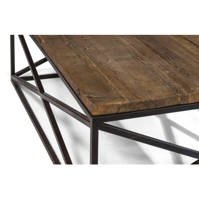 Iron Sarreid Ltd Dockworker Board Coffee Table For Sale - Image 7 of 9
