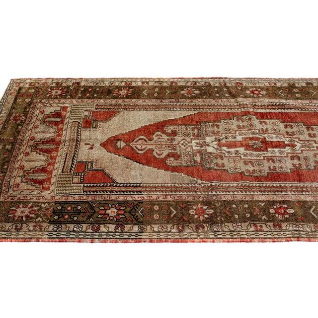 Tribal 1980s Handmade Turkish Konya Rug - 3′9″ × 7′10″ For Sale - Image 3 of 6