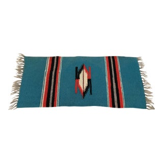 Vintage Native American Style Weaving Table Rug