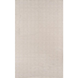 "Erin Gates Newton Holden Beige Hand Woven Recycled Plastic Area Rug 3'6"" X 5'6"" For Sale"