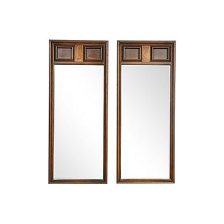 1960s Square-Designed Mirrors, A Pair